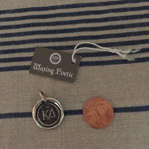 Waxing Poetie Kappa Delta Sterling Charm